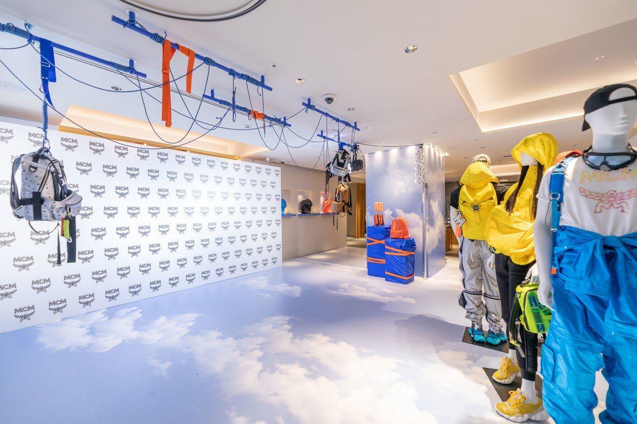 Ginza HAUS 1旗艦店將2019春夏「空氣」與高空極限運動為靈感的系列,...