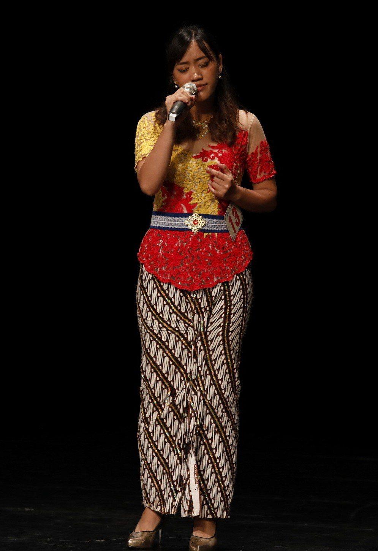 來自印尼的何依宓以一曲「攏是為著你啦」,奪得新住民組第一名。記者徐如宜/攝影