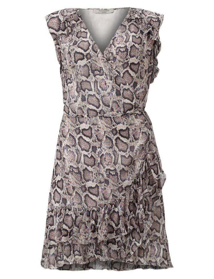 AllSaints Priya Misra印花洋裝7,600元。圖/AllSai...