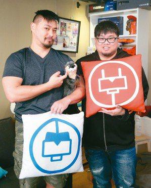 電獺副執行長蘇芃翰(左)電獺創辦人謝綸(右) 記者余承翰/攝影