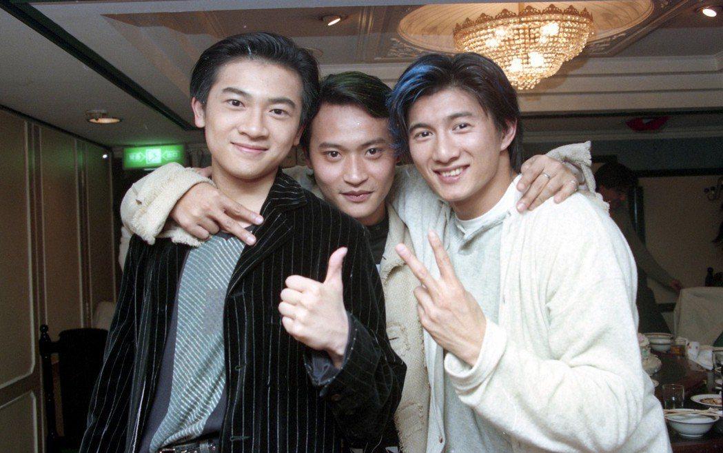 小虎隊時期的蘇有朋、陳志朋、吳奇隆。 圖/聯合報系資料照