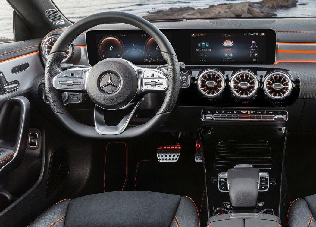 新一代賓士的內裝一體式螢幕。 摘自Mercedes