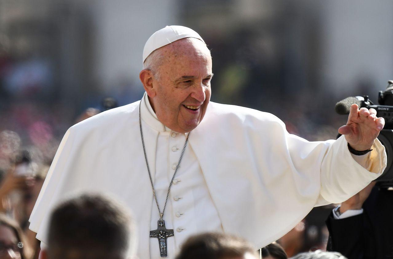 羅馬天主教教宗方濟各。法新社
