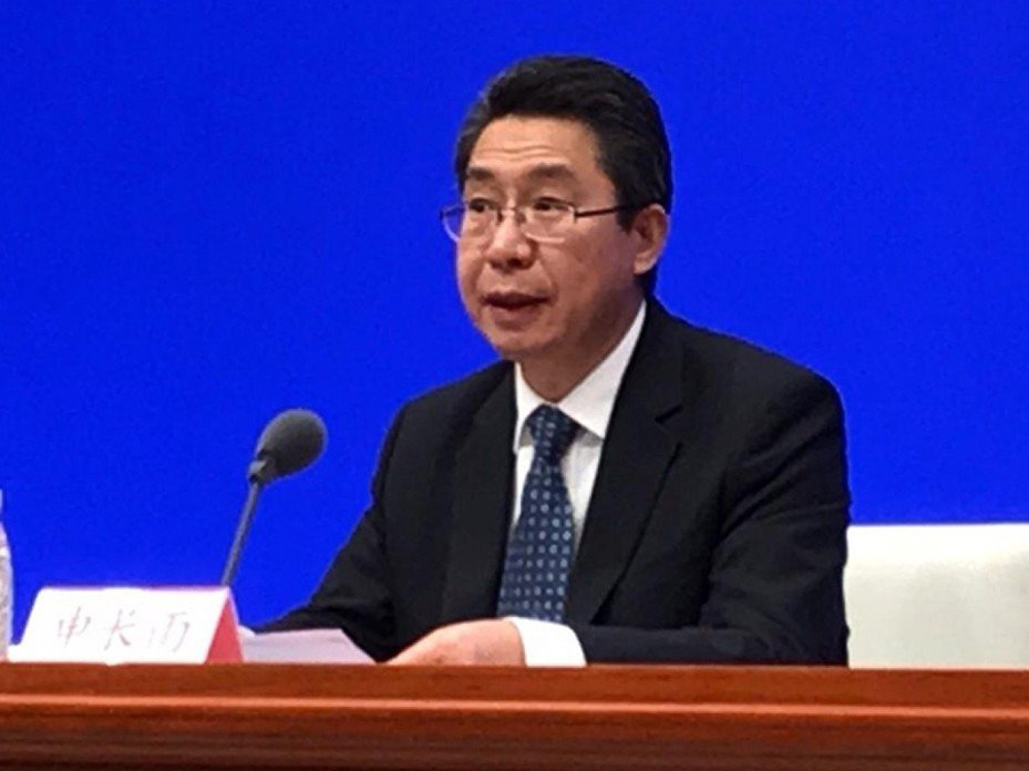 中共國家知識產權局局長申長雨。香港電台