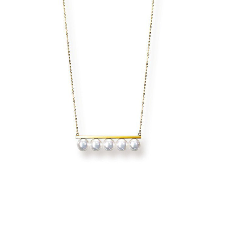 TASAKI balance signature珍珠黃K金項鍊,約13萬3,00...