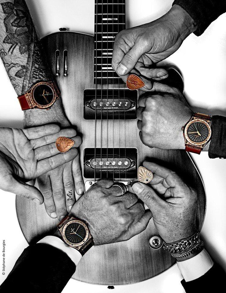宇舶表最新的聯名,就是找來獨立電吉他品牌Wild Customs一同打造具有搖滾...