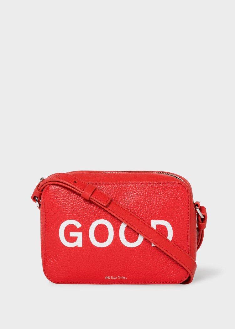 GOOD紅色皮革斜背小包,15,300元。圖/PS Paul Smith提供
