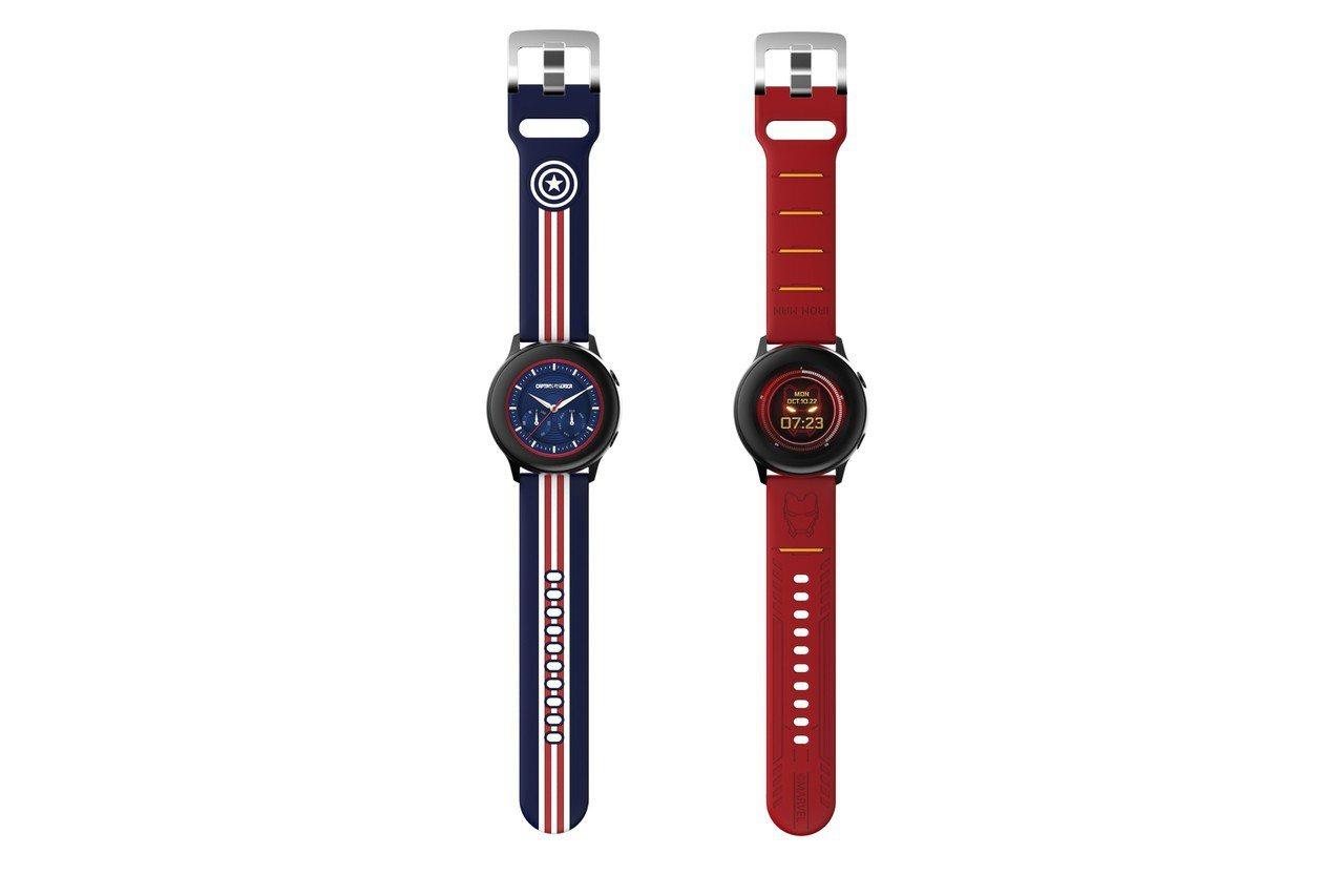 MARVEL主題Galaxy Watch Active表帶,20mm寬度的傳統手...