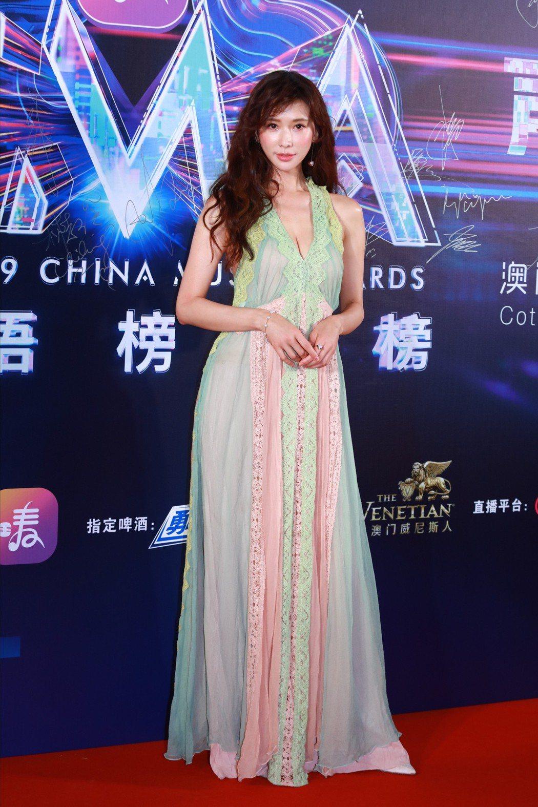 女神林志玲現身香港全球華語榜中榜暨亞洲影響力盛典。圖/達志影像
