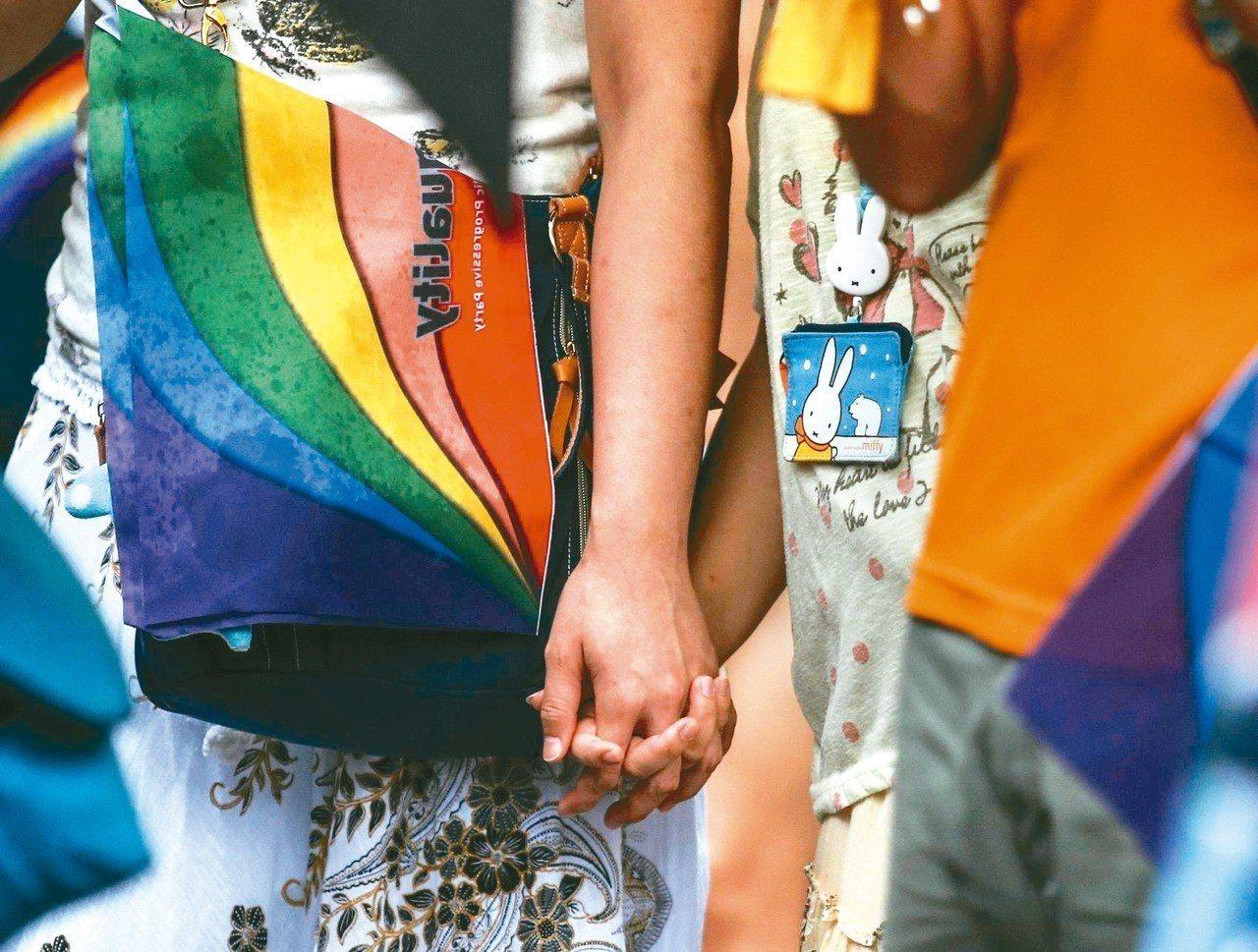 全國有近兩百對同性伴侶,計畫要在524登記結婚。 圖╱聯合報系資料照片