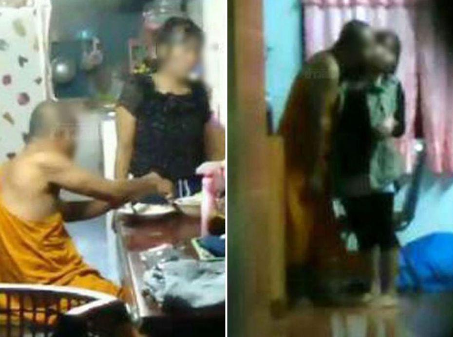 泰國住持荒淫無度,多次與女信徒「偷來暗去」,而被村民偷拍影片揭發。來源/泰聯網