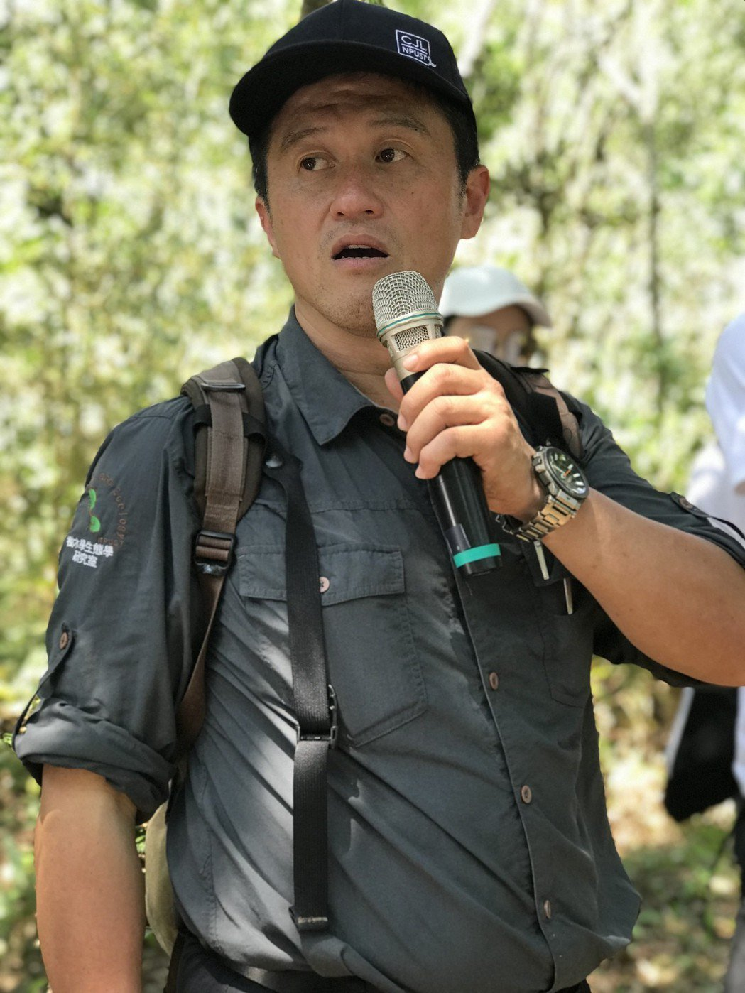 屏科大森林系主任王志強說,人一生一定至少要種一棵樹。 攝影/張世雅