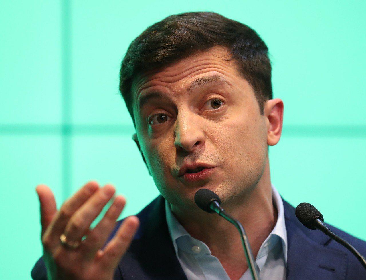 喜劇演員出身的澤倫斯基當選烏克蘭總統。歐新社