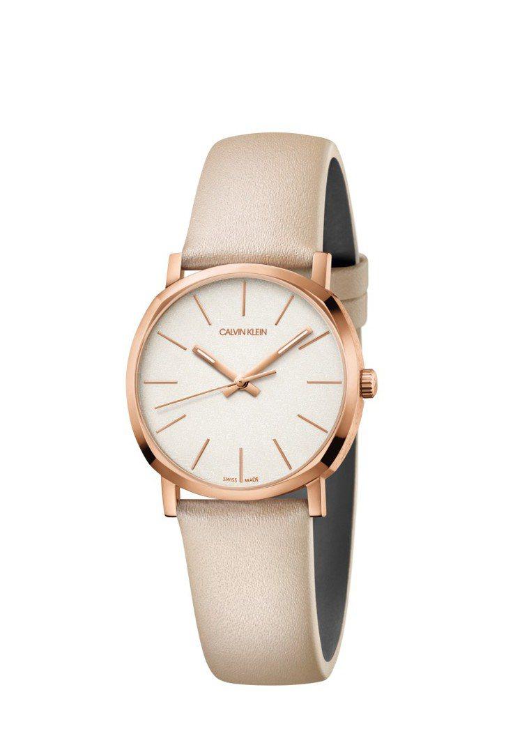 CALVIN KLEIN posh lady腕表,玫瑰金PVD表殼,8,800元...
