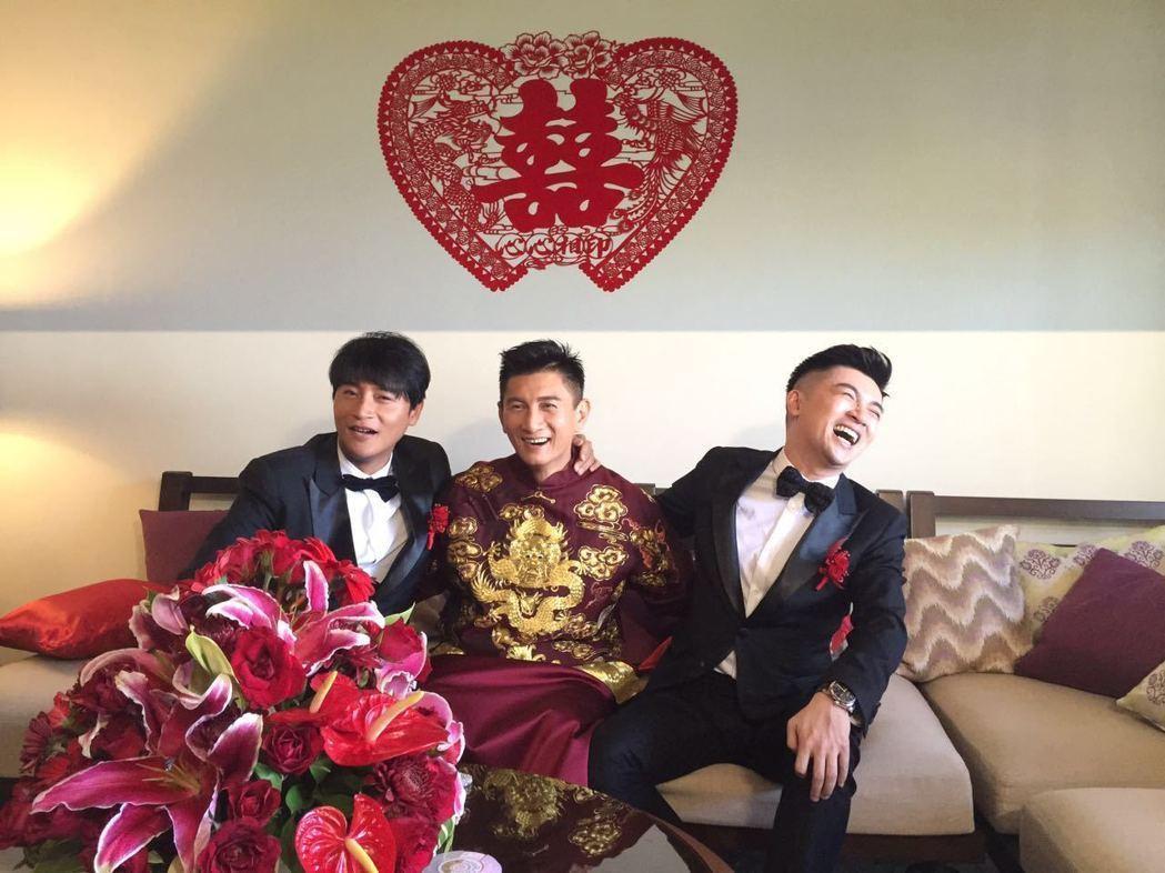 2016年隆詩大婚時,小虎隊合體。圖/稻草熊提供