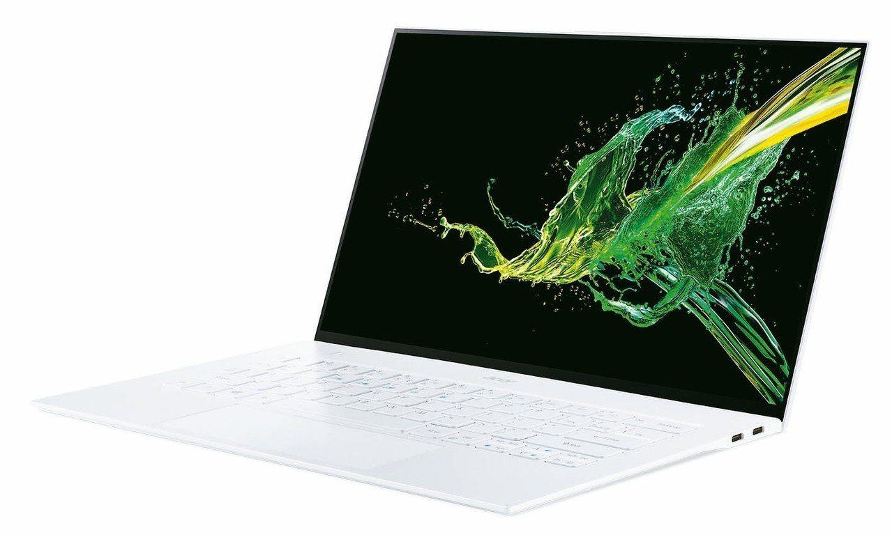 Acer Swift 7共推出黑白2色,機身厚度不到1公分,重量也少於1公斤。 ...