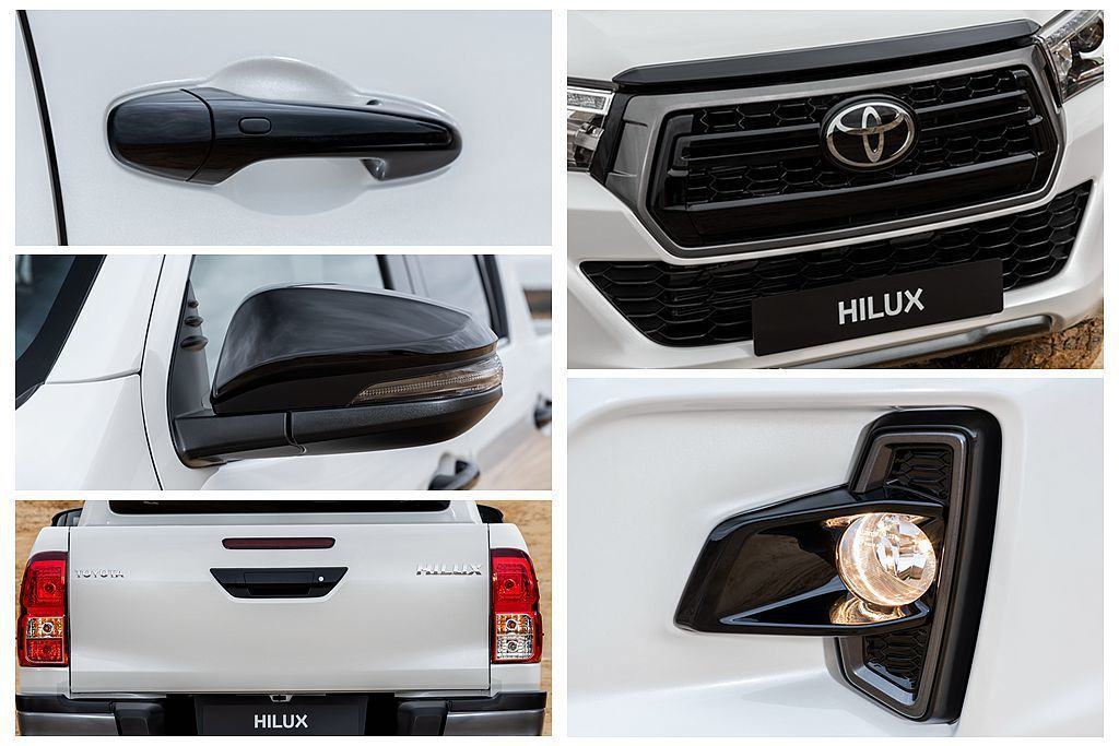 Toyota 2019 Hilux Special Edition僅增加些許黑色...