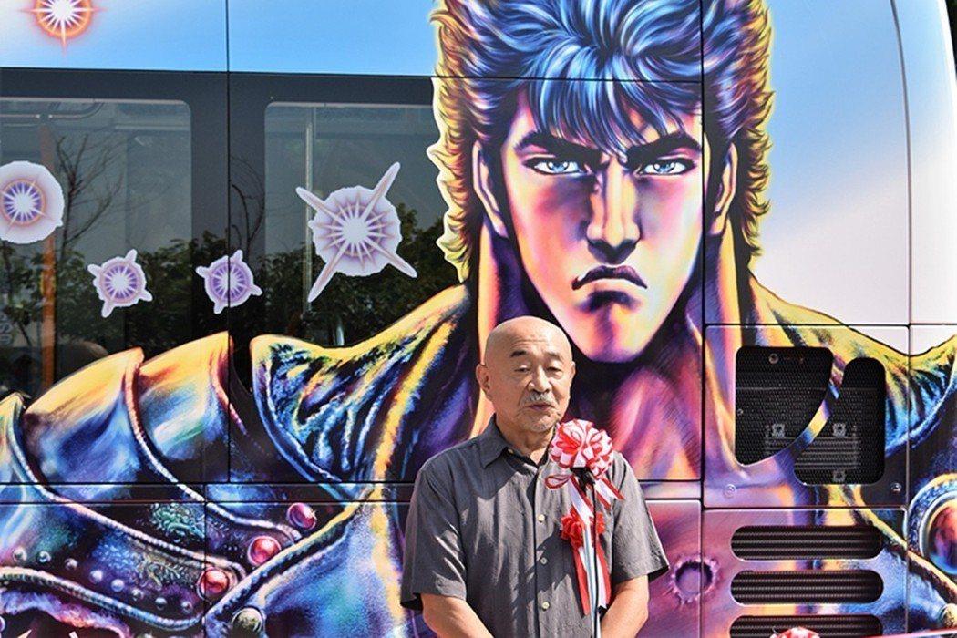 《北斗神拳》的原作者武論尊,漫畫則由原哲夫作畫。圖為2018年《北斗神拳》與長野...