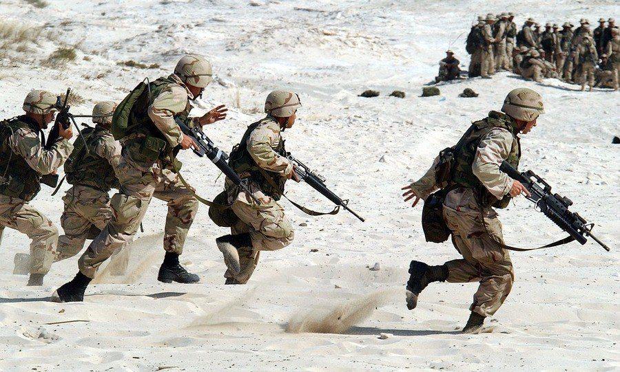 圖說:瑞典智庫發布的各國軍事開支調查報告顯示,美中競爭與區域衝突升溫是導致軍費增...