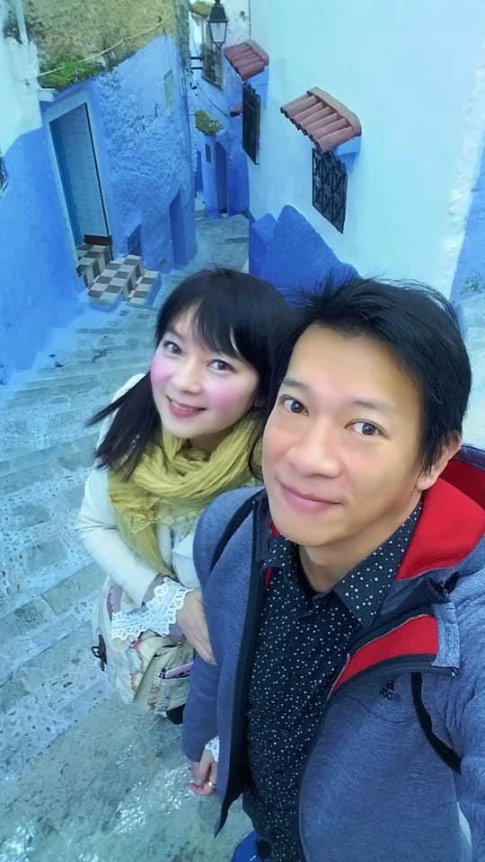 徐展元(右)和谷懷萱婚後相當恩愛。圖/摘自臉書