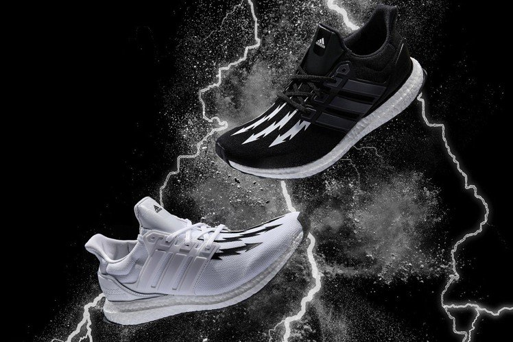 adidas與日本街頭潮牌Neighborhood合作推出聯名鞋款。圖/adid...