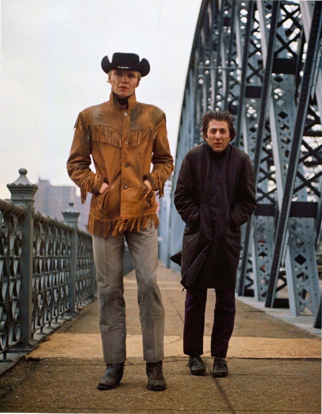 強沃特(左)與達斯汀霍夫曼(右)主演「午夜牛郎」。圖/台北電影節提供