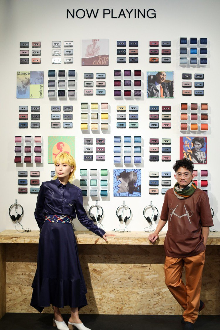 「愛馬仕Silk Mix絲巾唱片快閃店」在台北華山1914文化創意產業園區展開,...