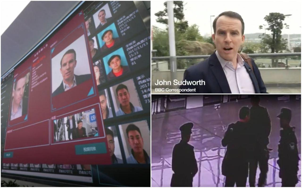 英媒記者挑戰中國「天網工程」,「潛逃」僅7分鐘便被抓獲。 圖/取自BBC