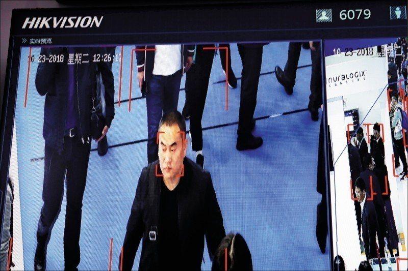 人臉識別科技引發監控人民的疑慮。 (美聯社)