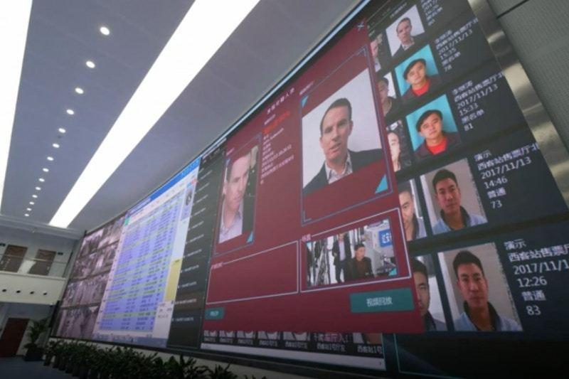 大陸天網監控中心的大螢幕。 圖/取自BBC