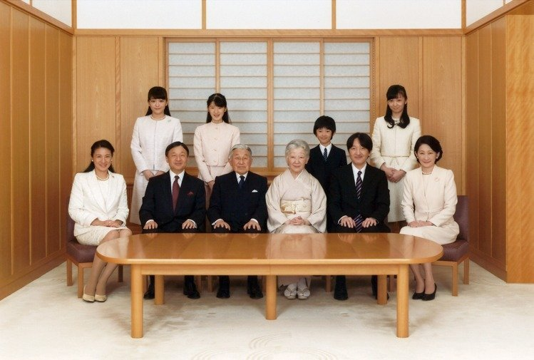 日本皇室。圖/美聯社