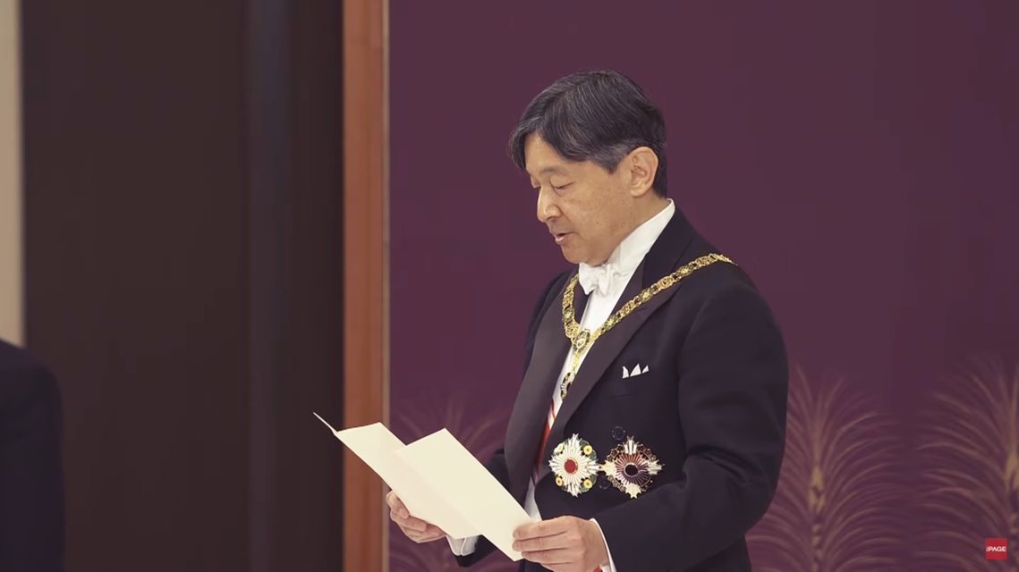 德仁表示「常懷民心、遵守日本憲法、以及作為日本與日本國民統合象徵的責任與義務。」...