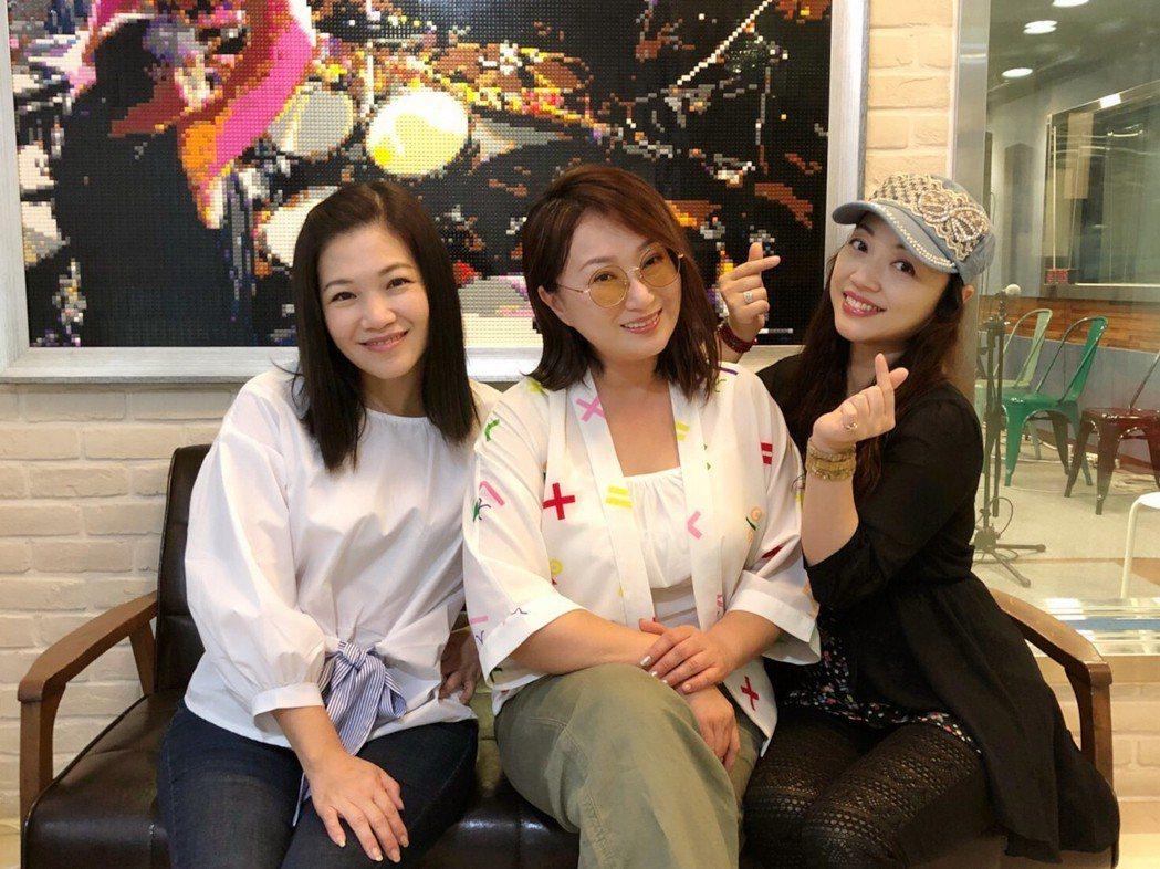 黃妃(左起)、王瑞霞、秀蘭瑪雅本周6將在高雄義大皇家戲院開唱。圖/勝駿娛樂提供