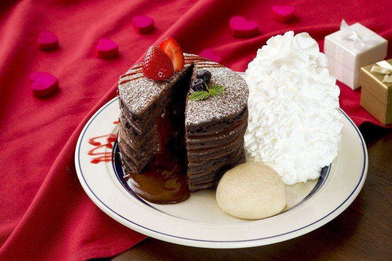 巧克力熔岩火山鬆餅,售價450元。圖/Eggs 'n Things提供