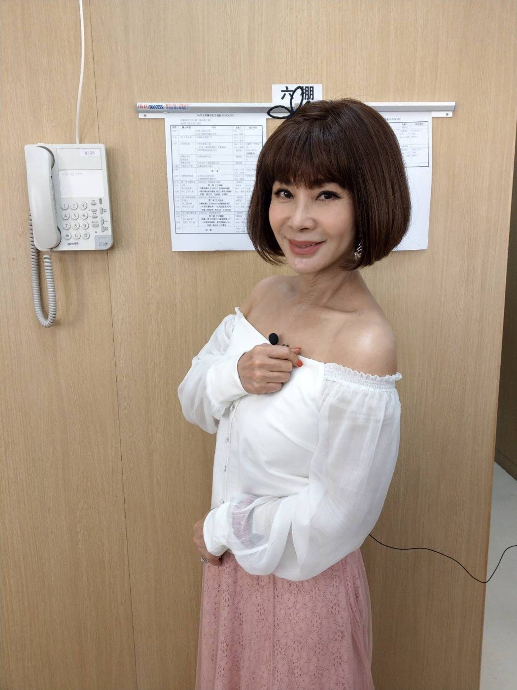 陳美鳳錄影時春花滿面,讓人以為她交了新男友。圖/民視提供