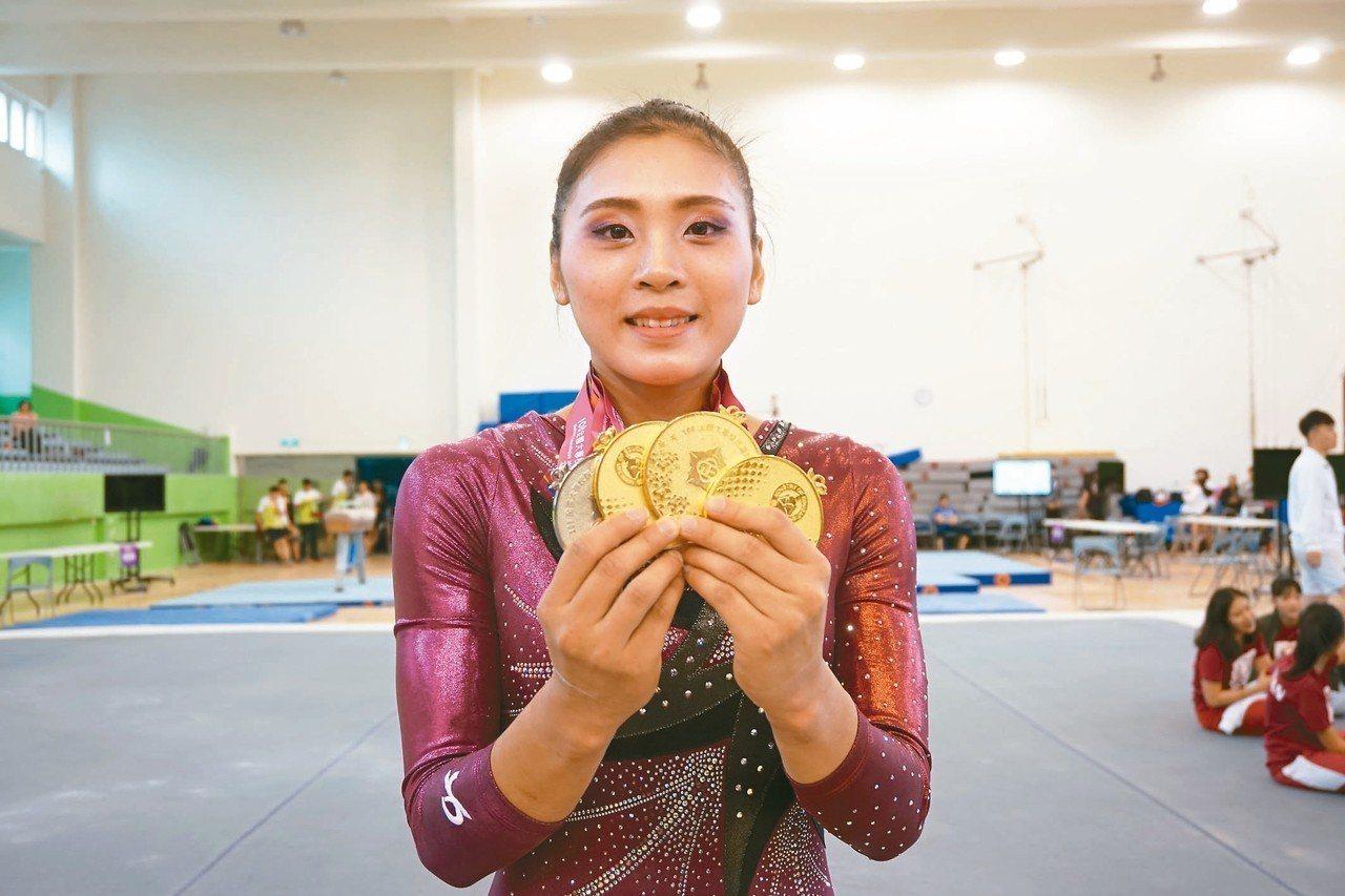 麥劉湘涵累積31面金牌。 記者劉肇育/攝影