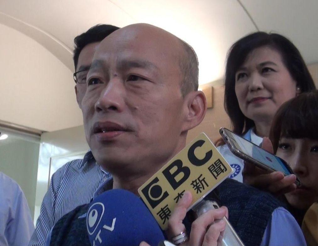 高雄市長韓國瑜上午說,他當前最重要的事情就是把高雄市政做好。 記者楊濡嘉/攝影