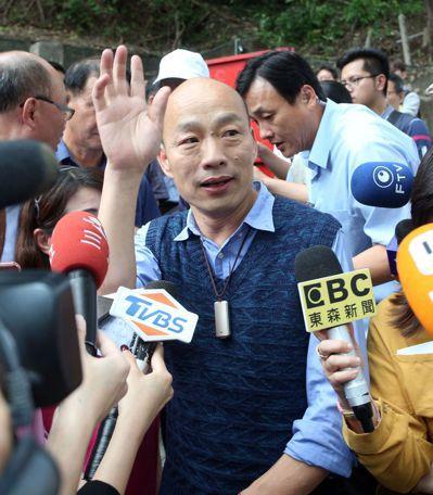 對於韓粉熱情相挺選總統,高雄市長韓國瑜希望各項活動都不要擾民。記者劉學聖/攝影