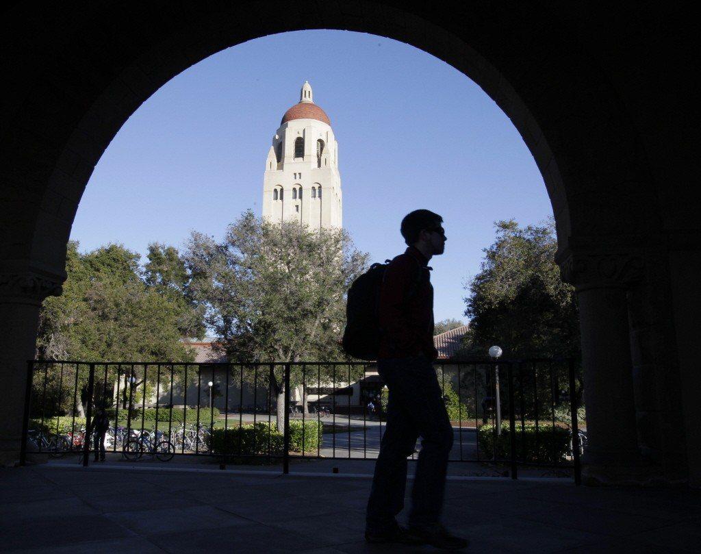 美國名校史丹福大學校園一角。 美聯社