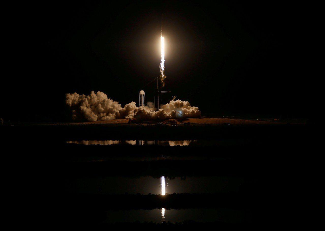 美國太空探索科技公司(SpaceX)示意圖。路透社