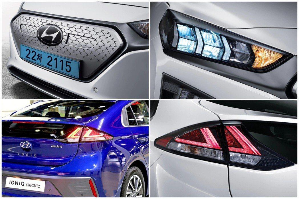 小改款Hyundai Ioniq Electric 外觀特色。 摘自Hyunda...