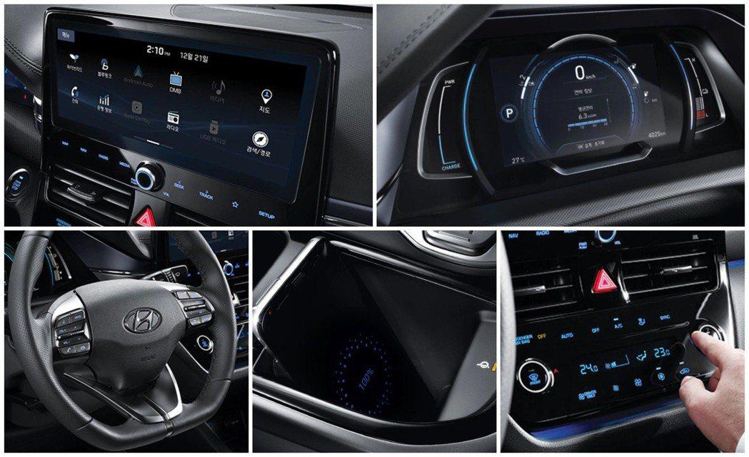 小改款Hyundai Ioniq Electric內裝較先前的車型更具有科技質感...