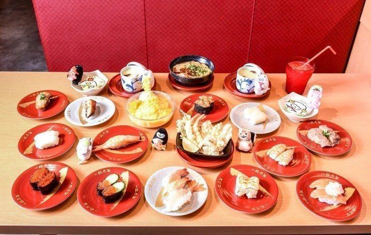 壽司郎提供有百餘款的迴轉壽司可供選擇。圖/壽司郎提供