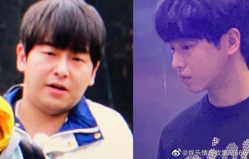 網友曝光彭昱暢胖瘦照,對比差很大。圖/擷自微博