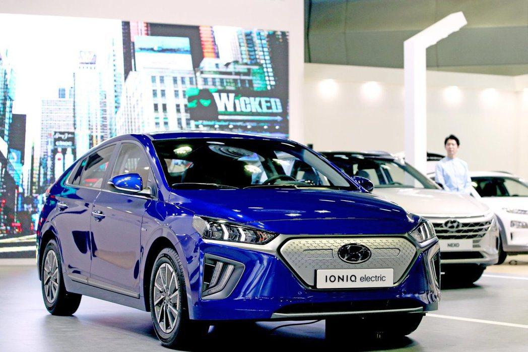 小改款Hyundai Ioniq Electric在今日(2)於韓國首爾江南區C...