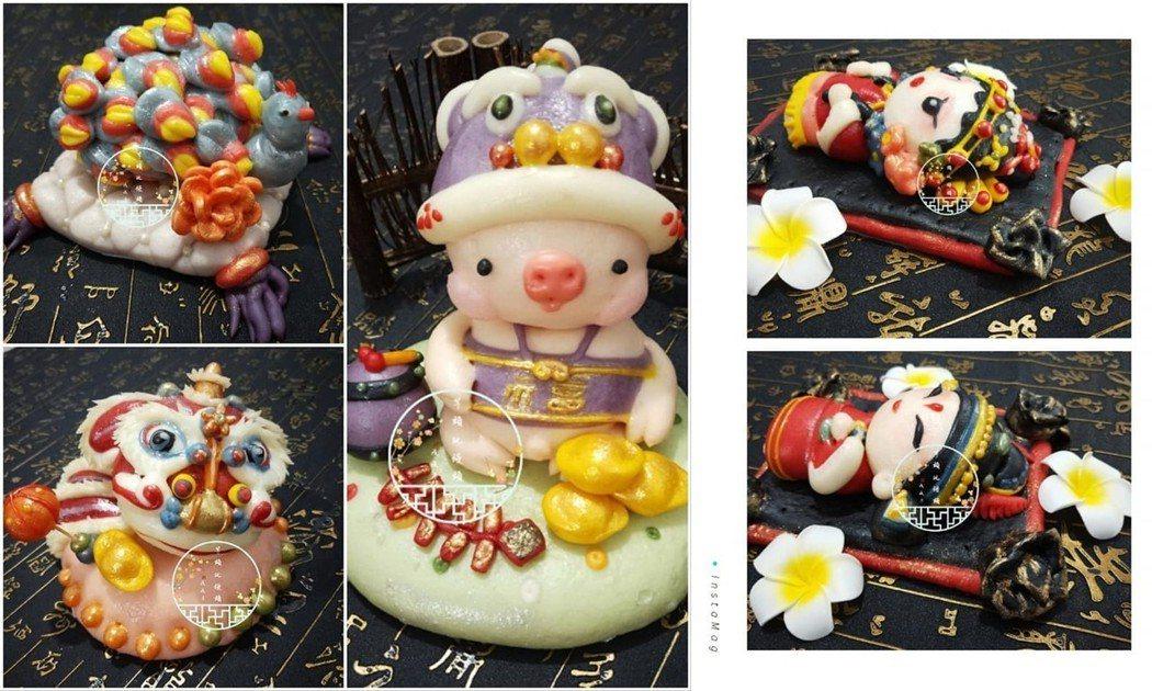 圖片來源/ FB「芋頭玩饅頭手作造型饅頭.烘培.小物」授權使用