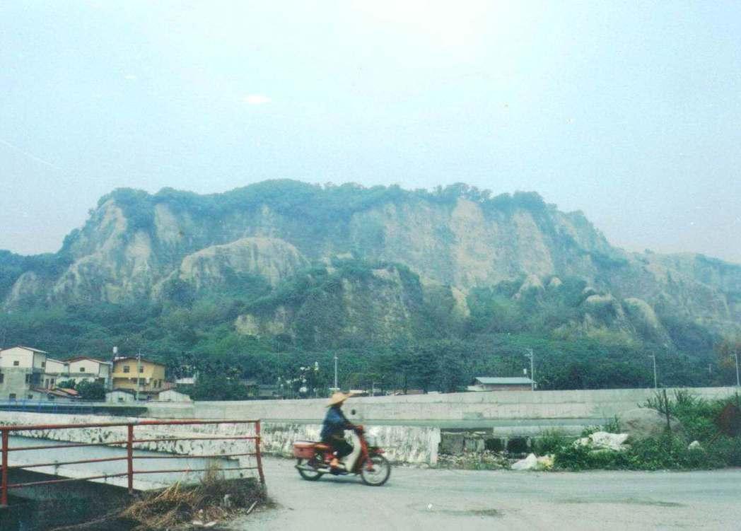 二水鄉龍仔頭山921地震後,一度光禿禿的。圖/報系資料照