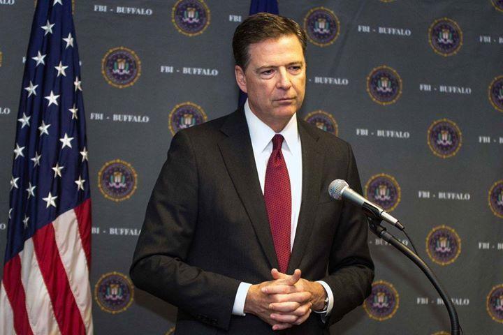 美國FBI前局長柯米2日痛批總統川普政在蠶食部會首長的靈魂。(photo by ...
