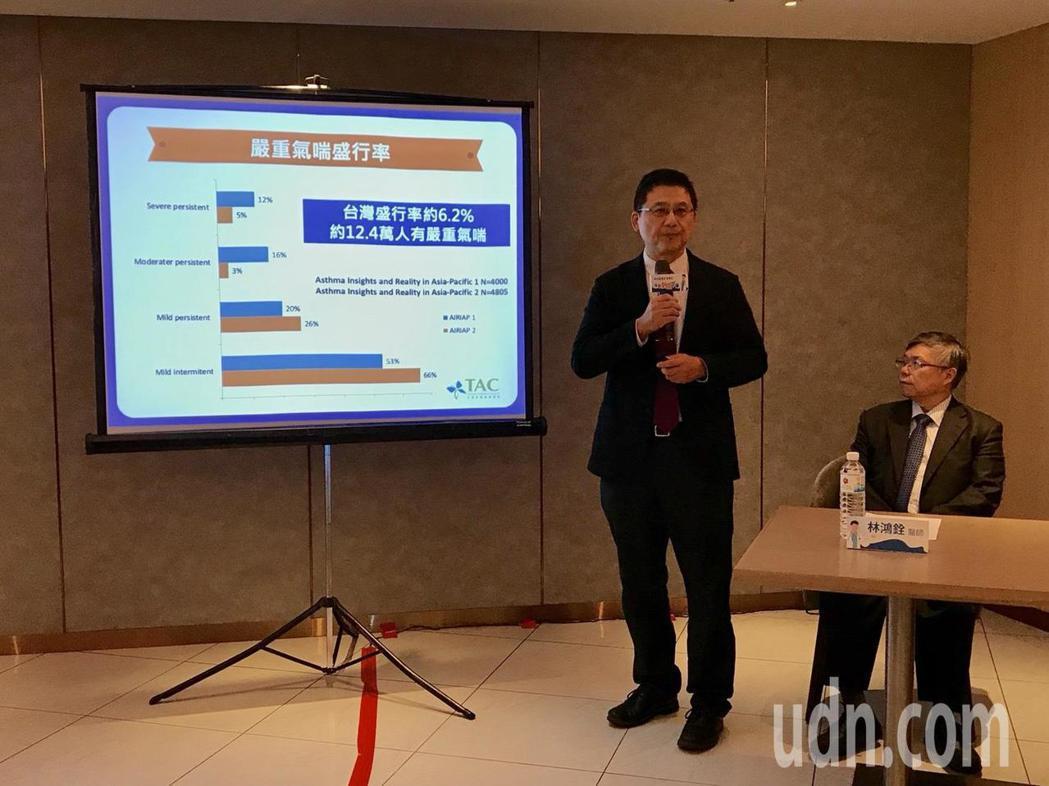 林口長庚兒童過敏氣喘中心主任葉國偉(左)表示,氣喘是我國常見的呼吸道疾病之一,而...