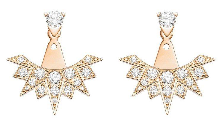 Sunlight系列18K玫瑰金耳環鑲飾32顆美鑽共約0.74克拉,19萬6,0...